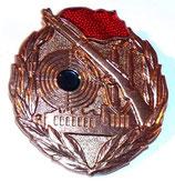 Insigne Schießabzeichen der Kampfgruppen der Arbeiterklasse Bronze NVA/DDR allemand