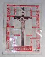 Calendrier 1942 Maison de la bonne presse français WW2