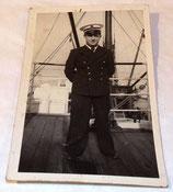 Carte postale photo d'un marin/officier Marine Nationale français WW2