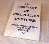 615ème Régiment de Circulation Routière convocation sélective des 13,14 et 15 octobre 1994 – 22 photos