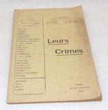 Livre Leurs crimes 1916 français WW1