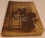 Carte postale photo soldat matelot Marine et sa famille français WW1