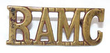 Shoulder title RAMC Royal Army Medical Corps GB WW1