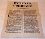Tract Entente cordiale, allocution traduite de Lord Vansittart français WW2