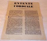 Tract Entente cordiale, allocution traduite de Lord Vansittart français WW2