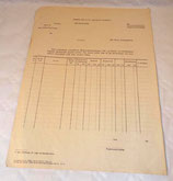 Document bon de commande allemand WW2