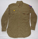 Chemise moutarde d'un PFC USAAF US Air Force WW2