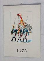 Calendrier italien de l'année 1973