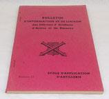 Bulletin d'information et de liaison des officiers d'artillerie d'active et de réserve, Ecole d'application d'artillerie, numéro 17 armée française