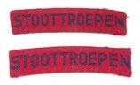 Paire d'insignes STOOTTROEPEN armée hollandaise
