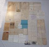 Grouping de documents d'un soldat du 29ème Régiment d'Infanterie puis 146ème RI, blessures et Croix de guerre avec citation à l'ordre de la division français WW1