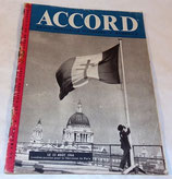 Revue Accord N°9 (apportée par la RAF) GB WW2