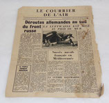 Tract/journal Le courrier de l'air (apporté par la RAF) 13 avril 1944 GB WW2