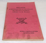 Bulletin d'information et de liaison des officiers d'artillerie d'active et de réserve, Ecole d'application d'artillerie, numéro 12 armée française