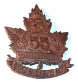 Cap badge 55th Battalion Overseas New Brunswick PEI CEF Canada WW1
