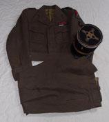 Tenue blouson + pantalon + képi d'un Lieutenant-colonel de l'Infanterie Coloniale 1ère Armée Française Rhin et Danube français WW2