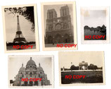 Lot de 11 photos allemandes WW2 de Paris