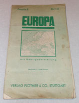 Carte d'Europe Verlag Plotner Europa 1942 allemande WW2