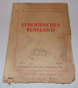 Carte de Russie (Europaisches Russland) Wehrmacht 1941 allemand WW2
