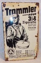 Petite plaque émaillée cigarettes Trommler avec porte-tambour SA allemand WW2 REPRODUCTION