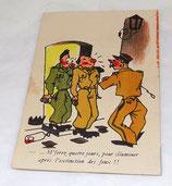 Carte postale humoristique militaire 318 A Noyer armée française