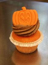 Halloween-Kürbis-Cupcake