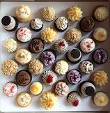 36 süße Mini-Cupcakes