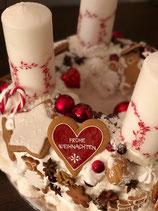 """Adventkranz """"Frohe Weihnachen"""""""
