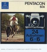 Broschüre: Pentacon six 24 Aufnahmen 6X6