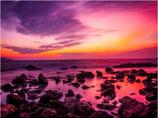 Paars gekleurde zonsondergang