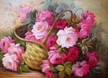 mand met bloemen