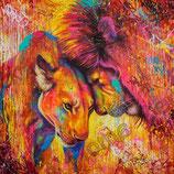 mooi gekleurde leeuw