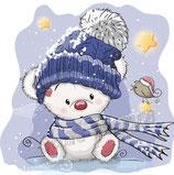 Beertje in de sneeuw