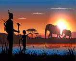 Zonsondergang Olifanten