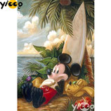 Mickey op het strand
