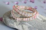 Wickelarmband Leder rosa