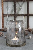 Vase mit Schneekristallen