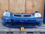 На Хонду Цивик Civic EK, 1995-1999 г.в. – передняя часть (ноускат) автомобиля с расширительным и омывательным бачком, оригинал, б у.