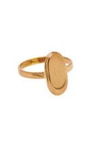 Big oval ring Brass