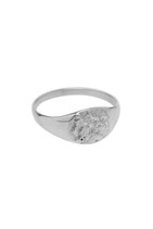 Signet Hammered ring- zilver