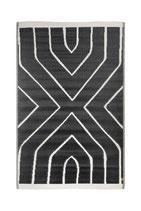 Buitenkleed grafisch patroon zwart