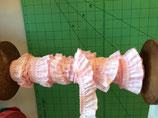 Elastisches Rüschenband Vichy Karo 19mm Rosa