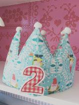 Geburtstagskrone mit Zahl 2