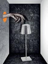 Zafferano Poldina Pro Tischleuchte metallic silver