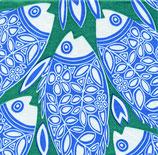 """PAVIOT Papierservietten """"Poisson bleu/vert"""" 40x40cm"""