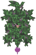 Trenkle Kuckulino-Pendeluhr grün/lila