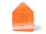 Zwitscherbox Klassik orange/weiß