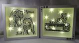 Leuchtbilder mit Portrait