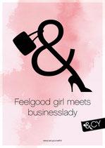 Print sticky canvas Feelgood girl A4 - plak en herplak waar jij wilt