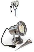 1 Stück LED- Strahler Edelstahl